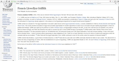 Wikipedia entry after editing.
