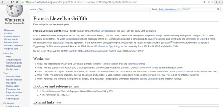 Wikipedia entry before I started editing.